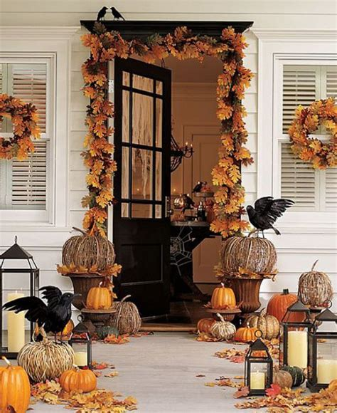 decorating home for fall 40 cool halloween front door decor ideas digsdigs