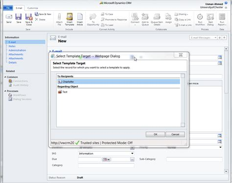 How To Use Email Templates In Crm Dynamics 2011 Dynamics 365 Solutions Crm Email Templates