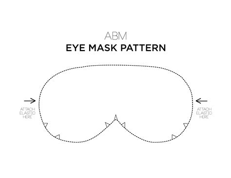 printable eye mask template make your own eye mask a beautiful mess