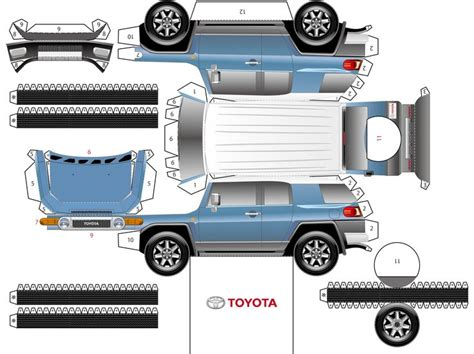 Toyota Papercraft - 17 best images about paper cruisers on