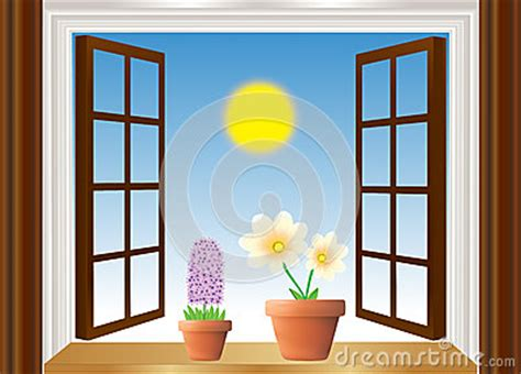 fensterbrett clipart open window with flowers stock photo image 29526500