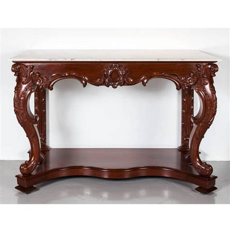 Mahogany Console Table Antique Anglo Indian Or Colonial Mahogany Console Table With Marble Top For Sale At 1stdibs