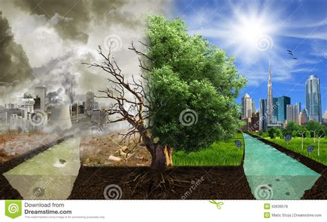 options sides eco concept eco digital art stock