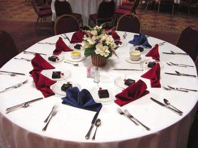 banquet tables banquet and cutlery on