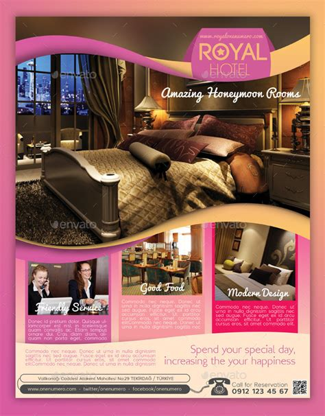 Royal Hotel Flyer Template By Graphicersan Graphicriver Hotel Flyer Template