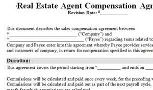 agent commission agreement template sole agency agreement template related keywords 12 commission agreement template free sample example