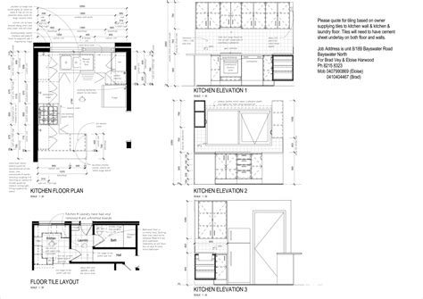 kitchen design layout tool tag for l shaped kitchen plan n elevation in autocad tag