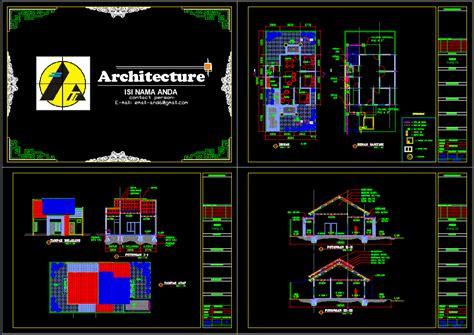 rumah type  file autocad asdar id