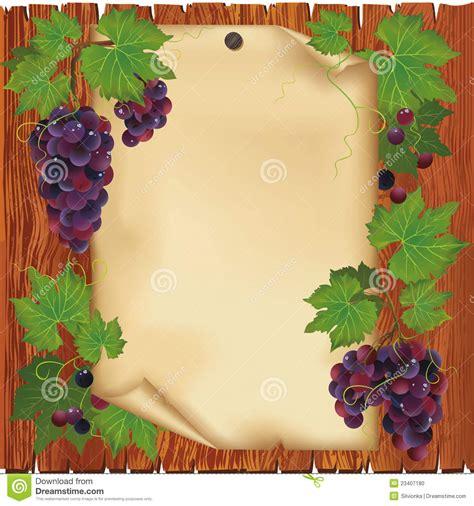 imagenes de uvas con mensajes fondo con la uva y el documento sobre tarjeta de madera