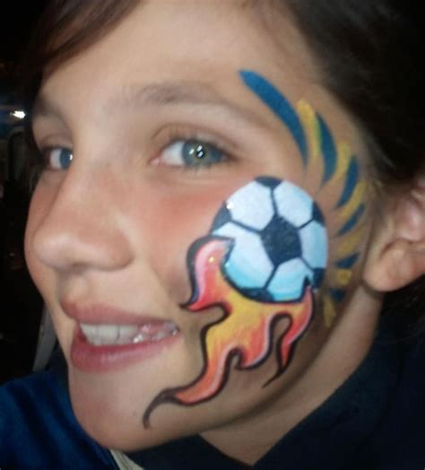 soccer ball with flames boy s face painting by let s 222 best images about face paint valentines on pinterest