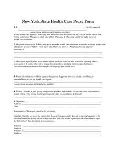 nys will template new york state health care proxy form free