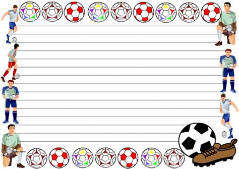 lined paper with football border football themed lined paper and pageborders by jinkydabon