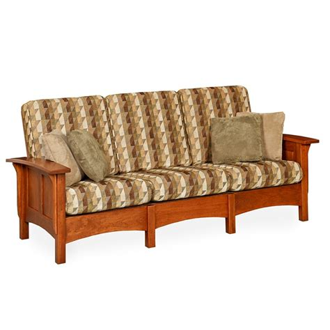 Morres Sofa by Amish Mission Morris Sofa Craftsman Upholstery Living