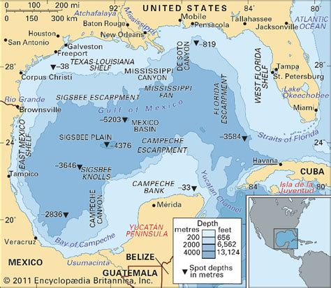 map of gulf of mexico gulf of mexico bathymetric features gulf of mexico maps