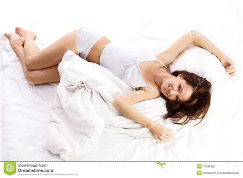 lying or laying in bed woman lying in bed stock photo image 17246300