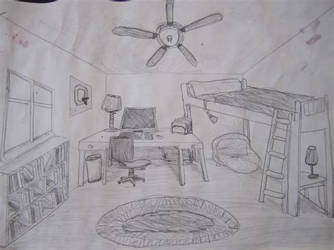 room drawing finished rooms 7th grade thinkcreateart