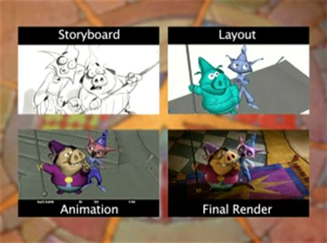 storyboards layout animation final lighting happily n ever after widescreen edition animated views