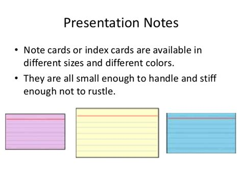 Presentation Notecards Presentation Note Cards Template