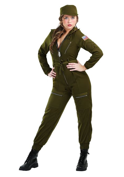 woman soldier costume army flightsuit costume for women