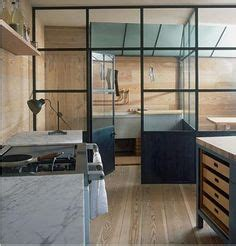 plain english marylebone showroom the spitalfields glass partition between kitchen dining area nice 3d