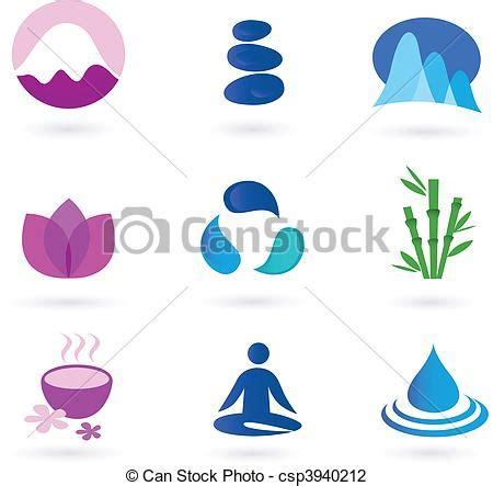 clip art de vectores de conjunto salud icono vector ilustraciones de vectores de relajaci 243 n yoga salud