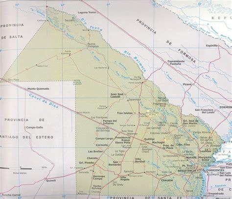 noticias de la provincia del chaco mapa map chaco provincia