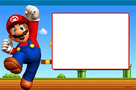 Free Printable Super Mario Bros Invitation Template Free Invitation Templates Drevio Mario Bros Birthday Invitation Templates