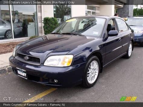 2003 Subaru Legacy Sedan by Mystic Blue Pearl 2003 Subaru Legacy L Sedan Gray
