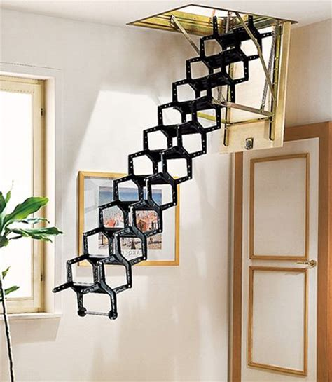 funky attic pull down stairs stairs from a different