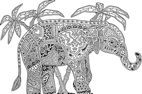 Galerry animals coloring pages for adults