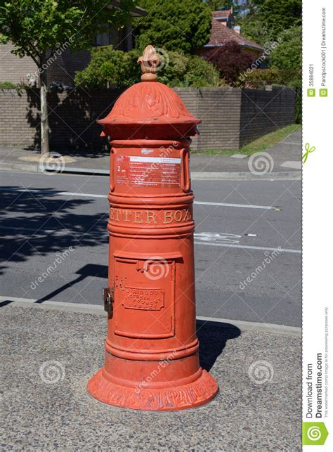 old style l post retro post box stock image image of style mailbox