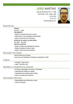 Modelo Europeu Curriculum Vitae Em Inglês Modelo De Curriculum Vitae Portugues Modelo De Curriculum Vitae