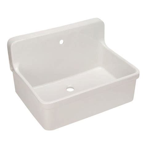Scrub Up Sink kohler gilford 22 in vitreous china laundry sink in white