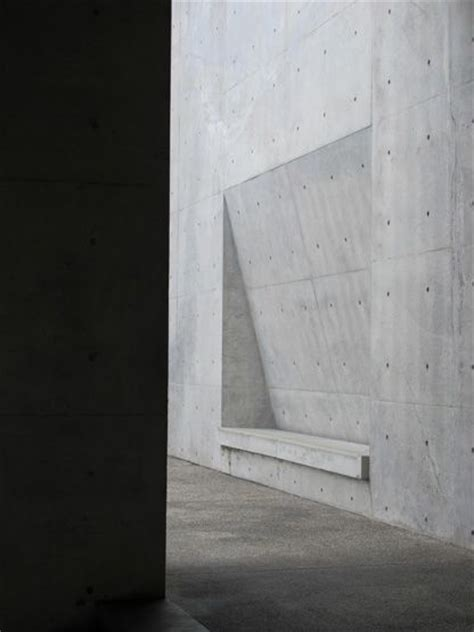 ando concrete wall tadao ando concrete subtle recessed seating materials