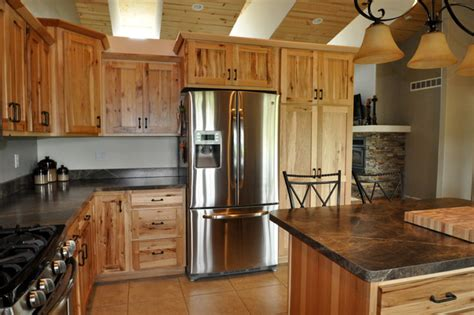Used Kitchen Cabinets Chicago by Country Style Rustic Hickory Farmhouse Kitchen