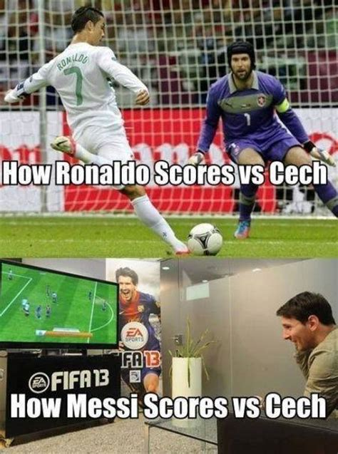 Messi Meme - lionel messi v cristiano ronaldo the best memes from the