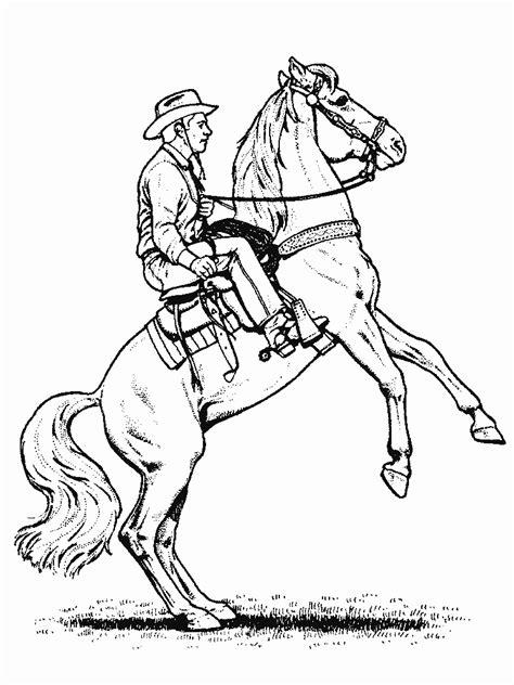 Cowboy Horse Coloring Page   coloriage cheval 224 imprimer