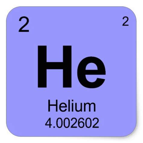 Periodic Table Square by Periodic Table Of Elements Helium Square Sticker Zazzle