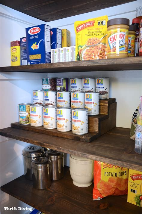 pantry makeover and can food organizer with storage