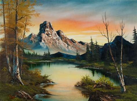 bob ross painting marshlands bob ross bob ross mountain at sunset 86083 painting for