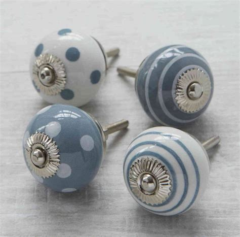 grey white ceramic cupboard drawer door knobs by pushka