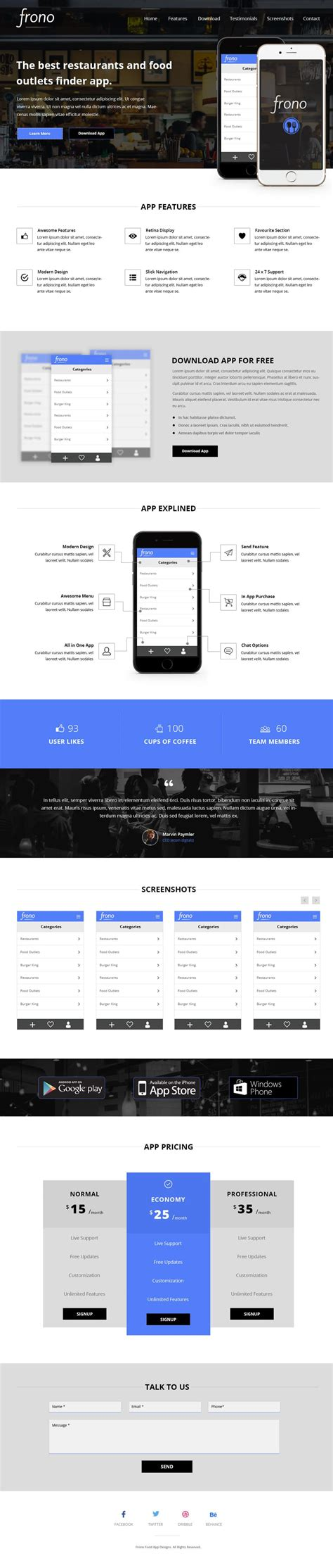 Beautiful Landing Page Templates Psd App Landing Page Template
