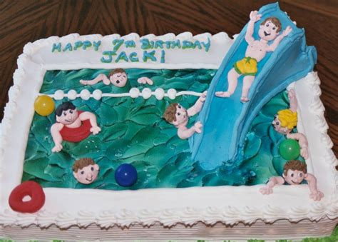 Pool Cake Decorations by Pool Cakes Decoration Ideas Birthday Cakes