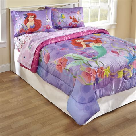 disney mermaid twinfull comforter