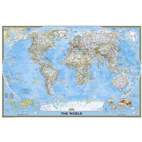 world classic pacific centered laminated national geographic reference map books national geographic maps world classic map poster size tubed