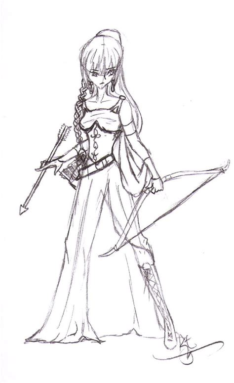 warrior princess coloring pages elf warrior princess by leilauchiha on deviantart