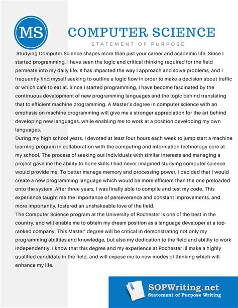 College Application Essay For Computer Science Writing Statement Of Purpose