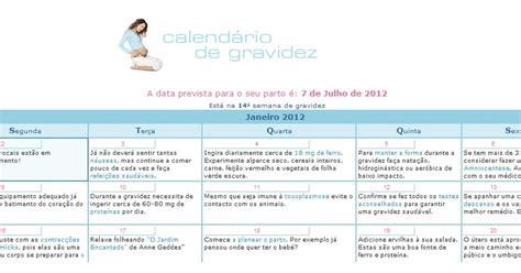 Calendario De Parto 2012 Estou Esperando Calendario De Gravidez
