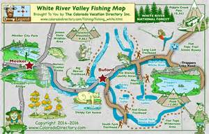 white river valley fishing map colorado vacation directory