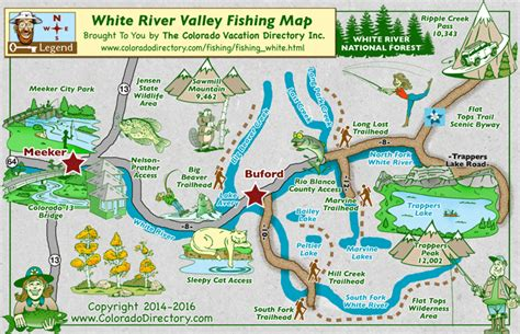 fly fishing colorado map my white river valley fishing map colorado vacation directory
